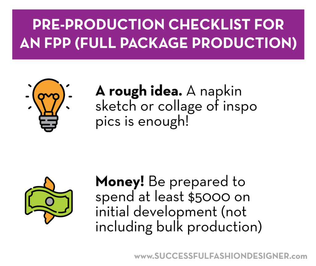 Pre Production Checklist for Full Package Production clothing manufacturing