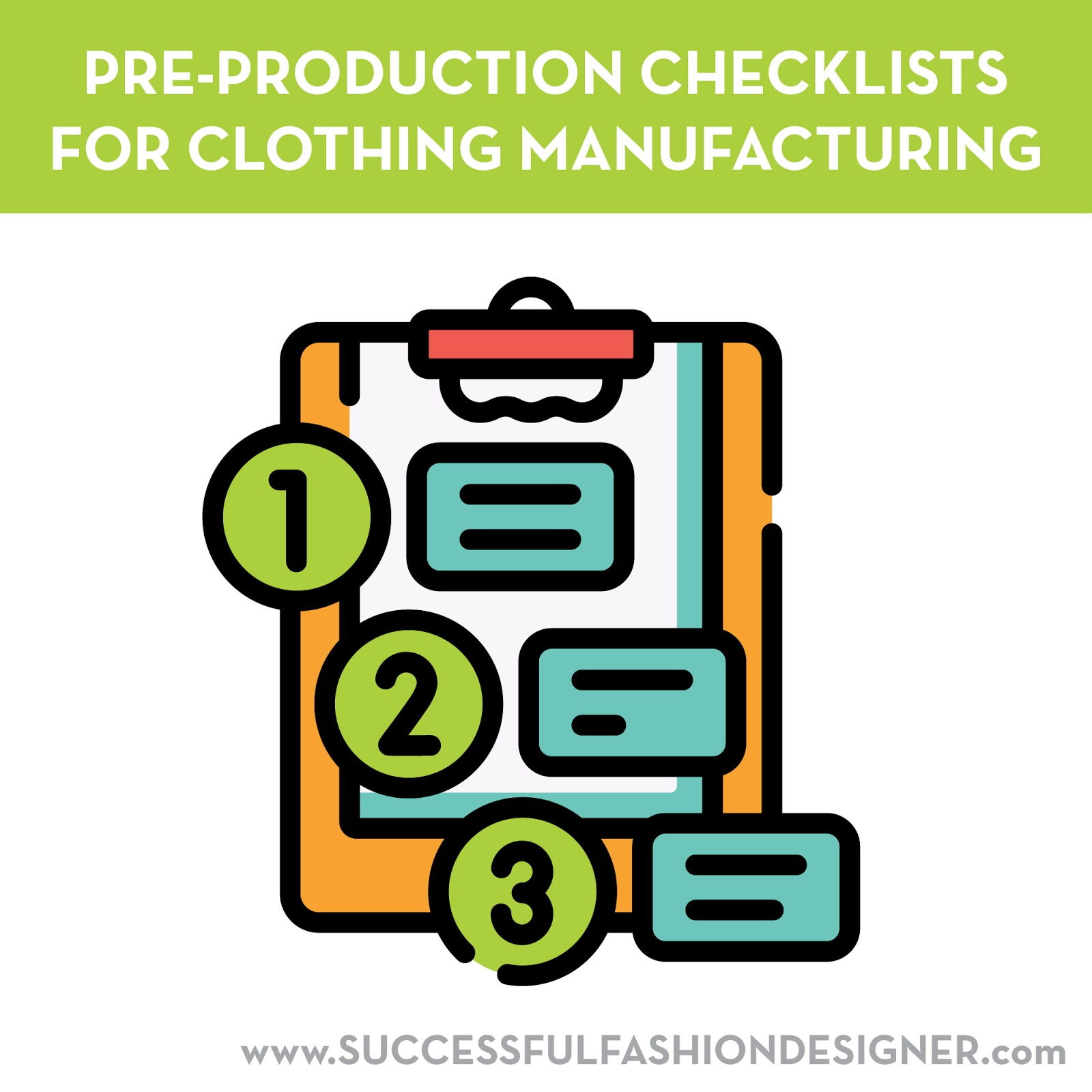 sew heidi pre production checkilsts for clothing manufacturing