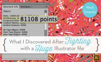 My Illustrator File Has Too Many Anchor Points {Sew Heidi}