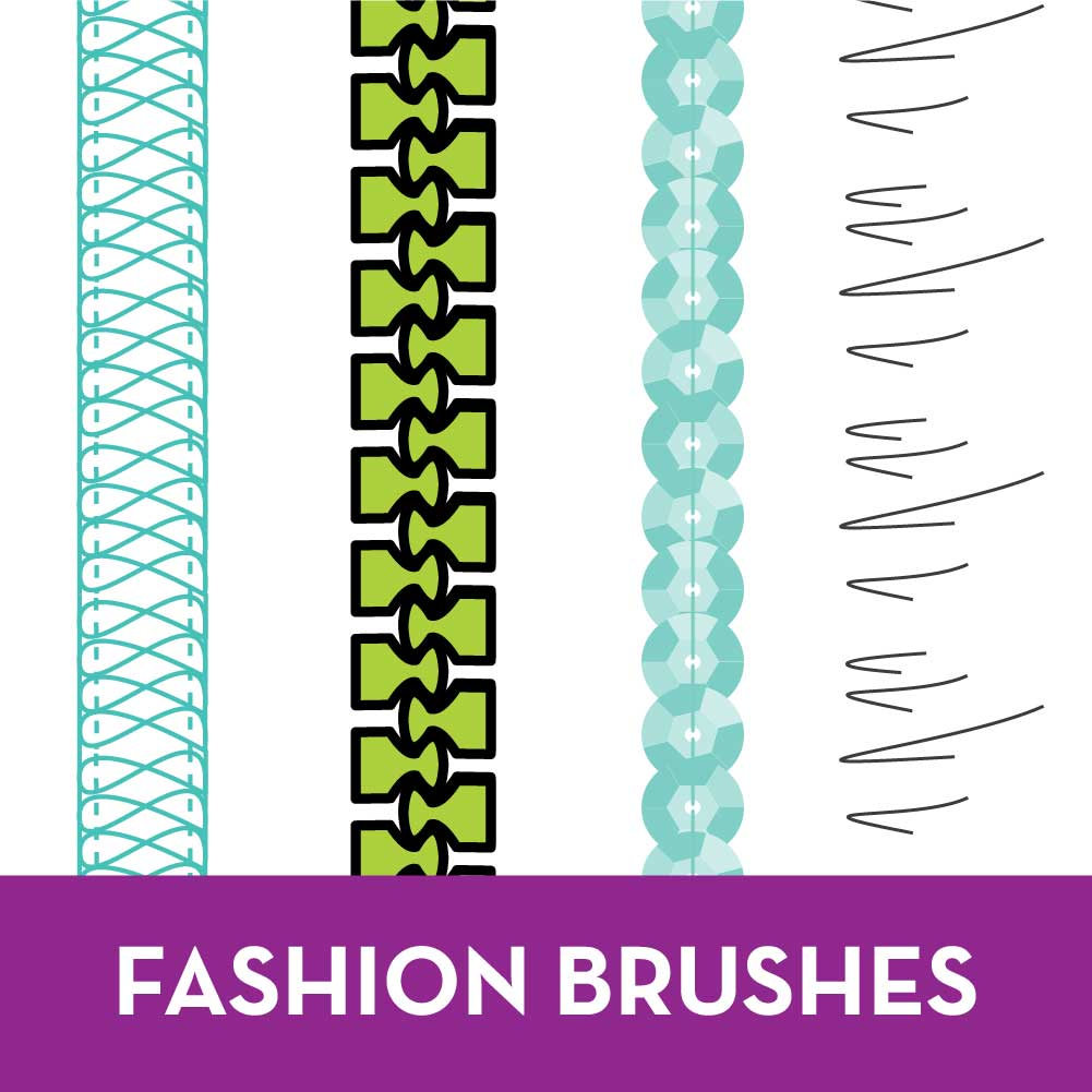 Free Adobe Illustrator for fashion design tutorials, fashion brushes