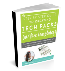 Tech Packs Step by Step, with Free Templates: Successful Fashion Designer by Sew Heidi