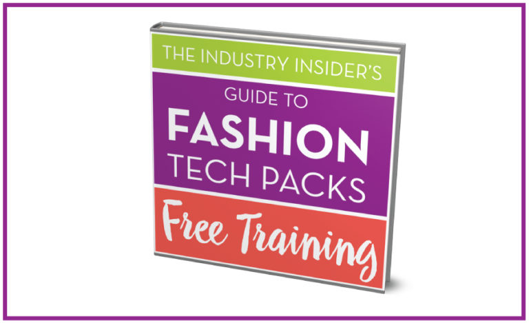 Free Tech Pack Training for Fashion Designers