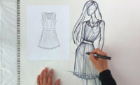 Zoe Hong Sketches Sew Heidi's Fashion Flat at YouTube Space LA